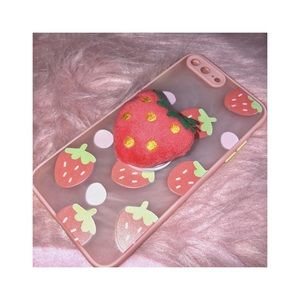 """"""" 🍓 """" strawberry pop out phone grip  """" 🍓 """""""